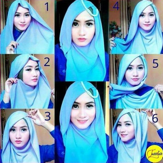 tutorial hijab segiempat terbaru yang modis