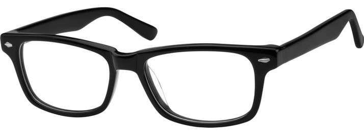 40dfc4f339113 Black Rectangle Glasses  612921