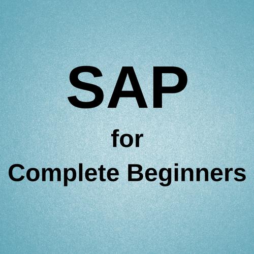Training Tutorial, Sap, Beginners