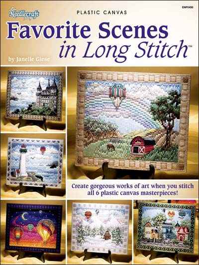 Plastic Canvas - Projects for the Home - Table & Shelf Decoration Patterns - Favorite Scenes in Long Stitch