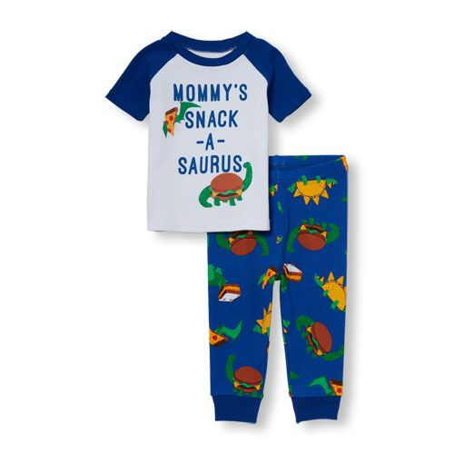 46453f635 Baby And Toddler Boys Short Raglan Sleeve  Mommy s Snack-A-Saurus ...