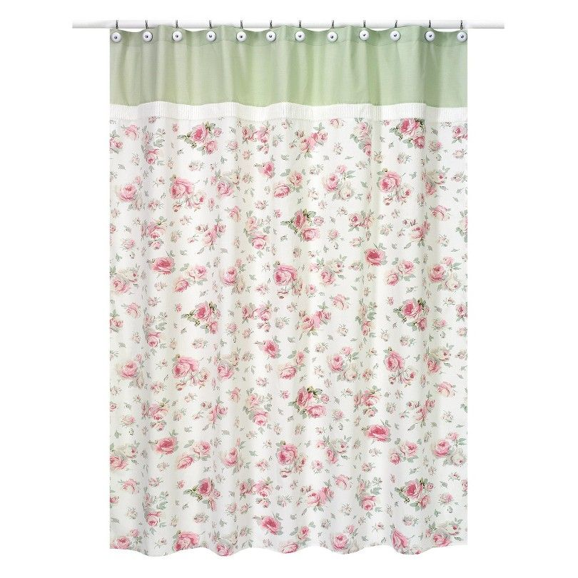 Sweet Jojo Designs Rileys Roses Shower Curtain