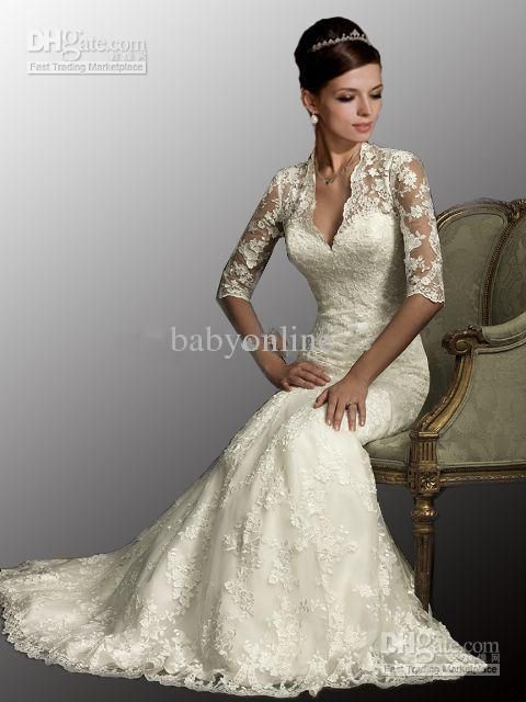 2017 New Dubai Elegant Long Sleeves A-line Wedding Dresses Sheer ...