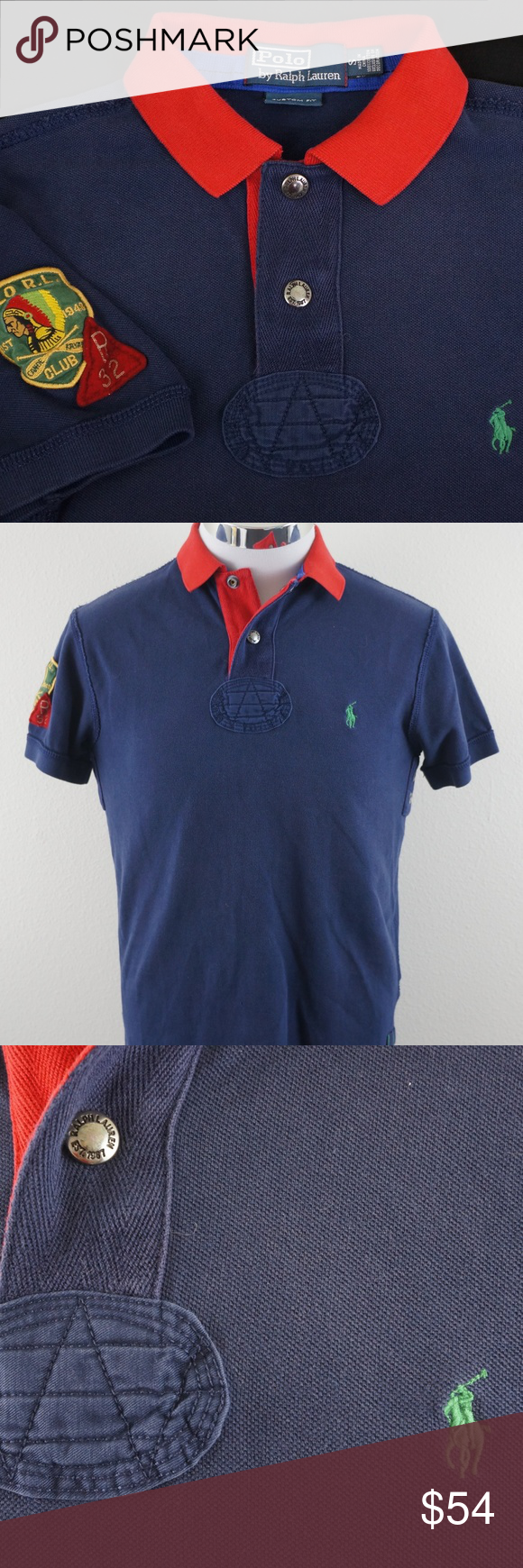 Custom Polo Mens Good Pony Ralph Condition With S Fit Lauren Shirt EDH92I