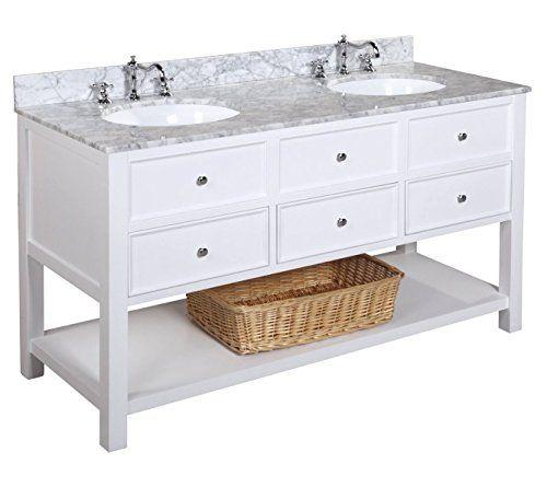 New Yorker 60 Inch Double Bathroom Vanity Carrara White