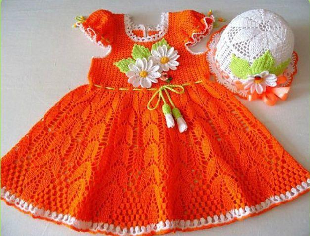 patrones de vestidos de crochet para bebe - Buscar con Google ...