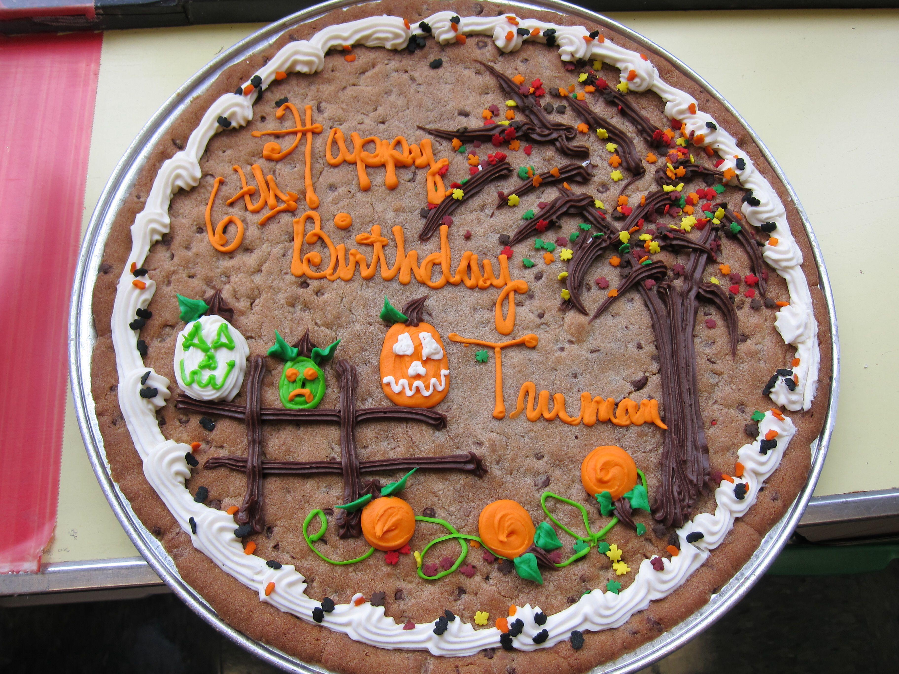 Halloween B Day Cookie Cake Cookie Cake Birthday Cookie Cake