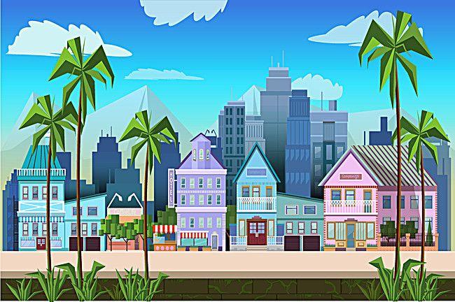 House Design Estate Graphic Background Pattamapon Game