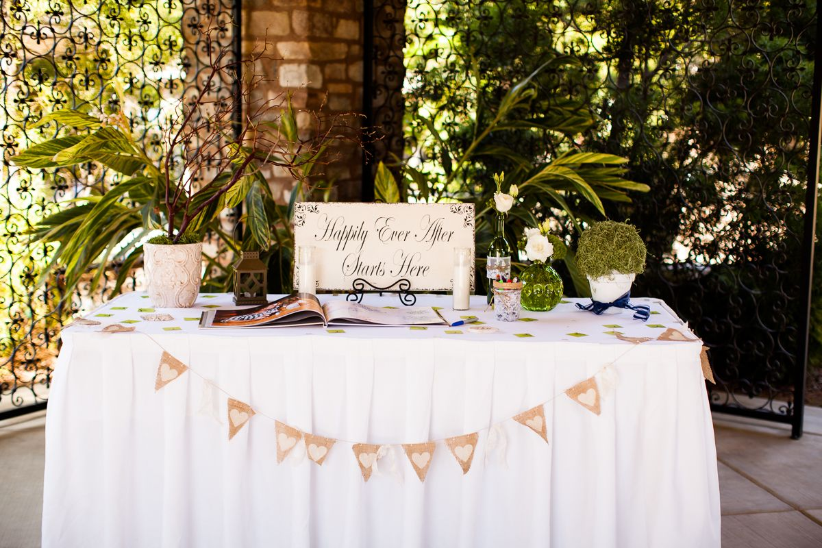 Guest Book Table Decorations Wedding