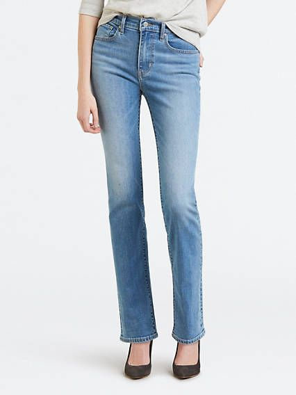 Levi's 724 High Rise Straight Jeans in 2020 | White denim