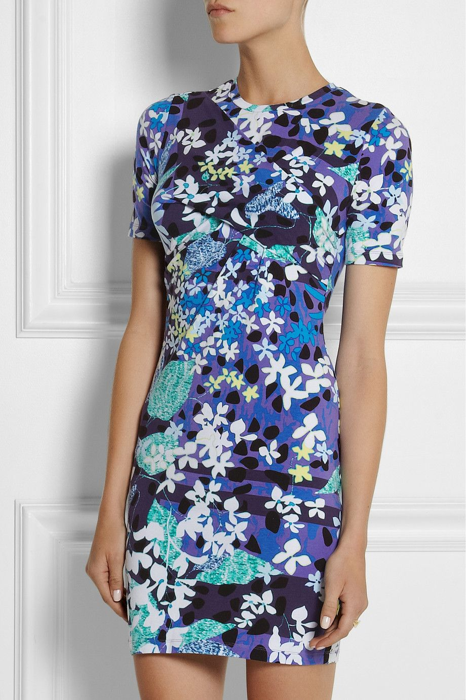 Pin By Lisa Menaster On Designer Collaborations Cute Floral Dresses Jersey Knit Dress Bodycon Dress [ 1380 x 920 Pixel ]
