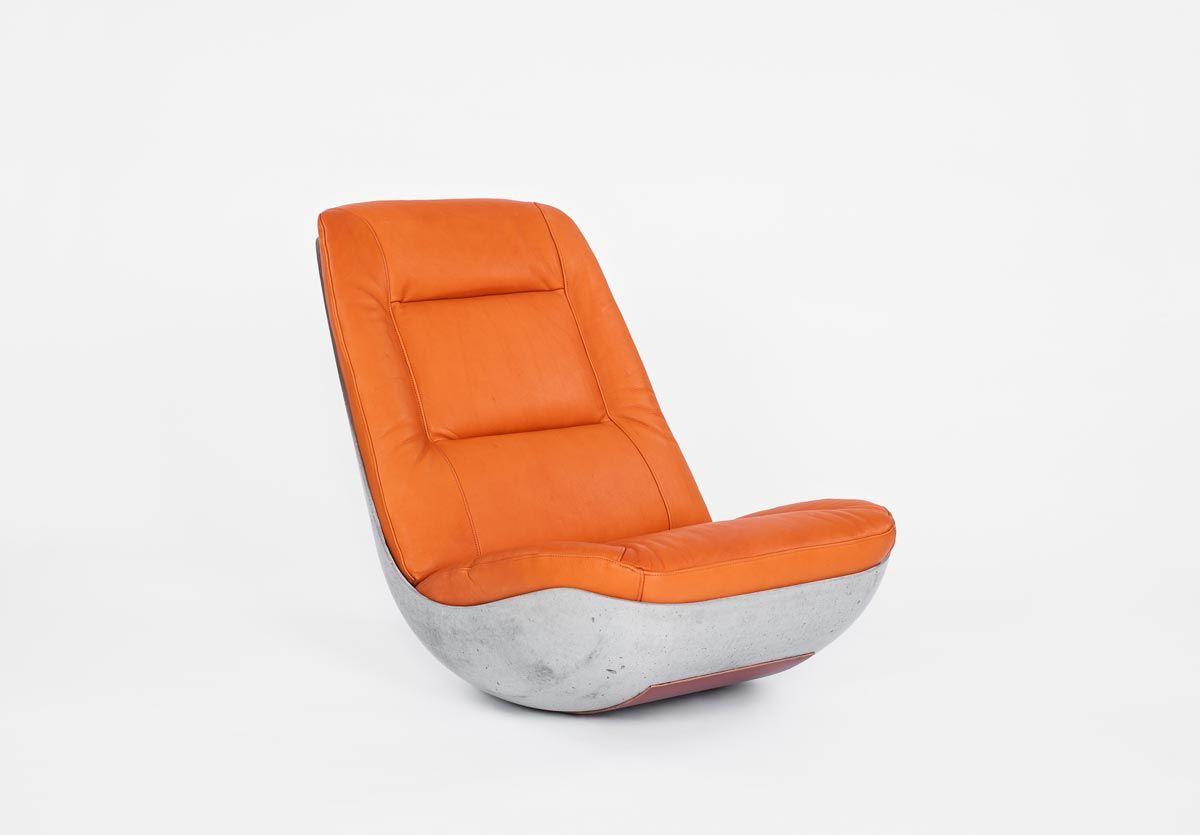 Swing: concrete chair design by Studio Paulsberg