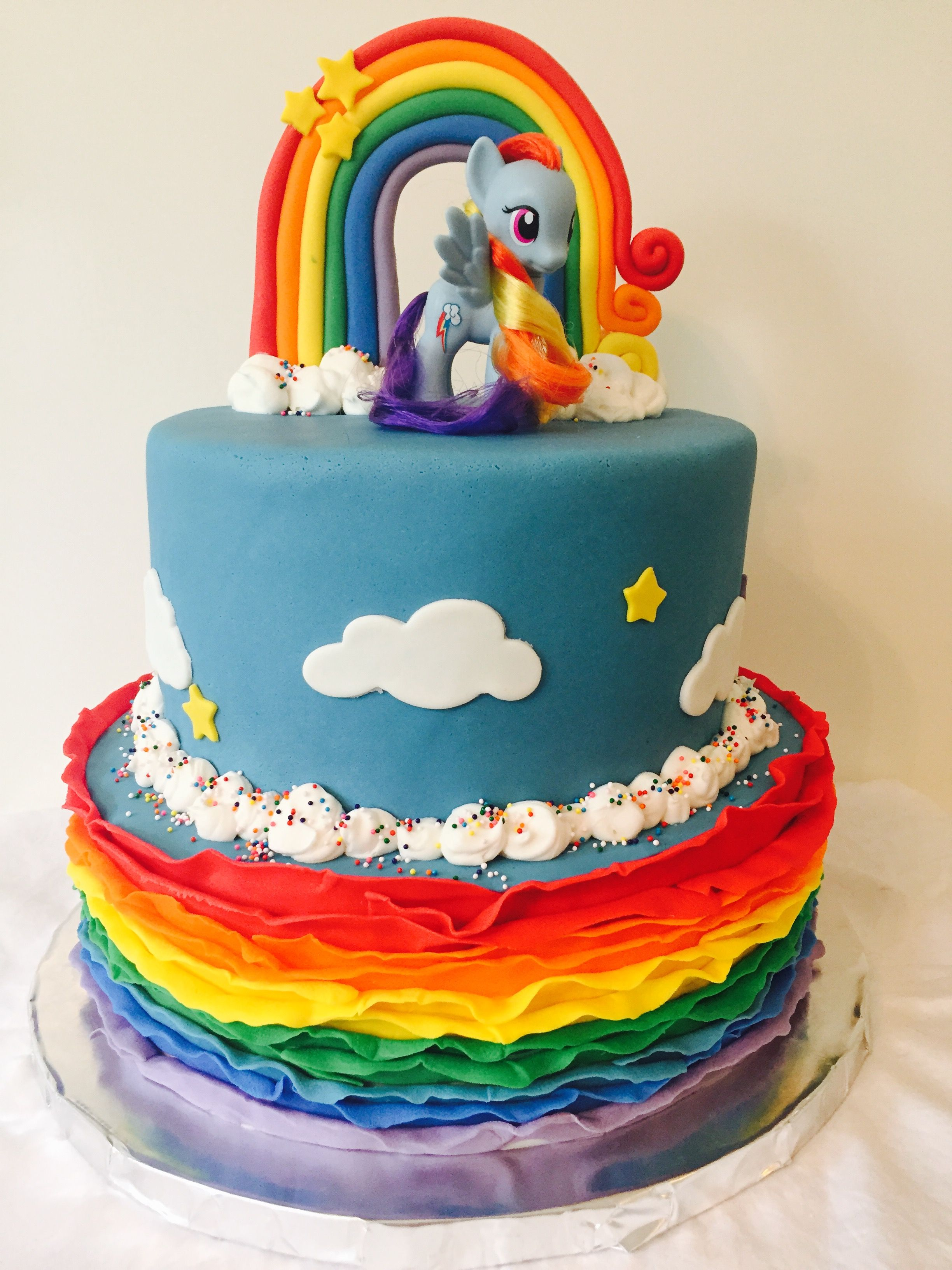 Swell My Little Pony Birthday Cake Mlp Rainbow Dash The Cake Stand Funny Birthday Cards Online Eattedamsfinfo