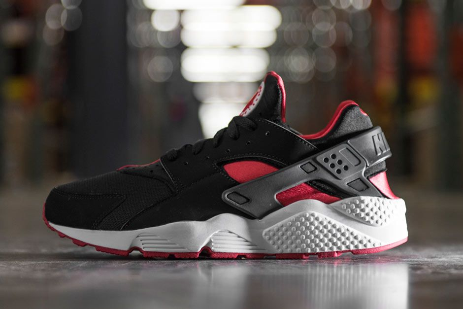 nike air huarache free run grey red white jordans