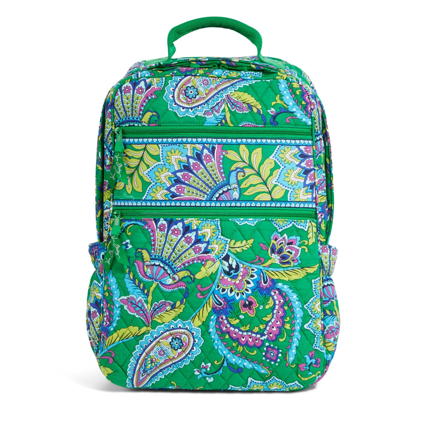 Tech Backpack In Emerald Paisley 108 I Vera Bradley