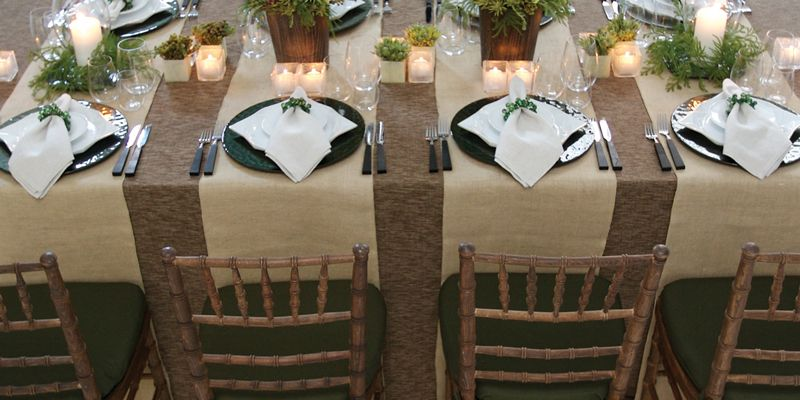 Nature wedding table setting photo by party rental ltd wedding nature wedding table setting photo by party rental ltd junglespirit Images