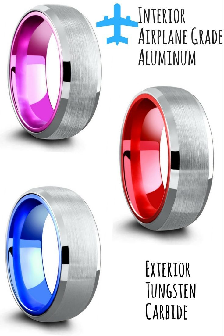 Truly One Of A Kind Mens Wedding Rings Half The Weight As Tungsten Yet Still Just Durable I Love Red Blue