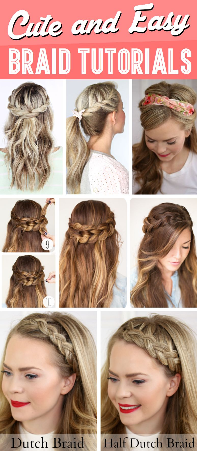 30 Cute And Easy Braid Tutorials That Are Perfect For Any Occasion Cute Diy Projects Easy Braids Braids Tutorial Easy Braided Hairstyles Easy