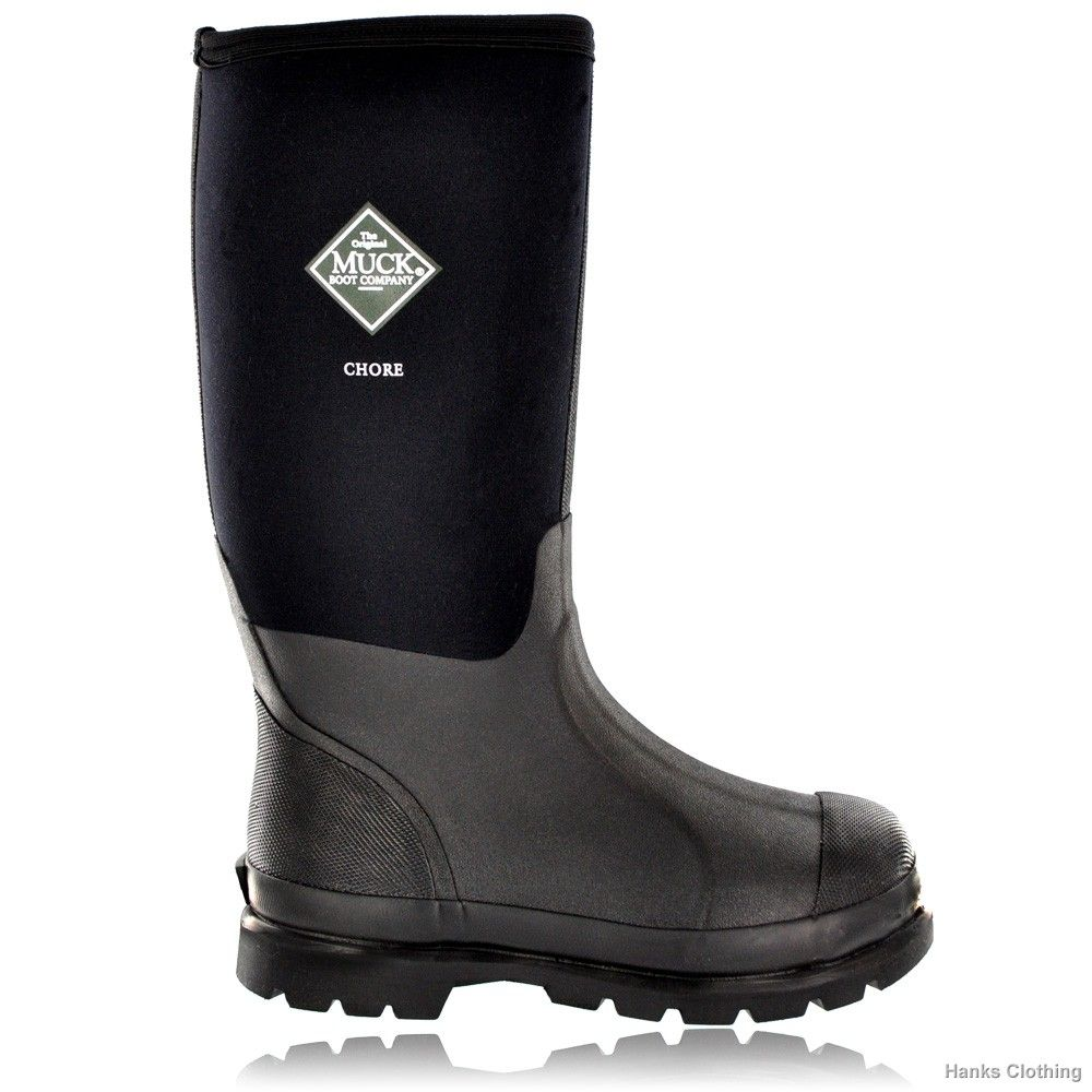 The Muck Boot Chore Hi ensures that when it comes to work, your footwear  won't let you down. Rugged farmers boot, working wellies with a hiking boot  sole ...