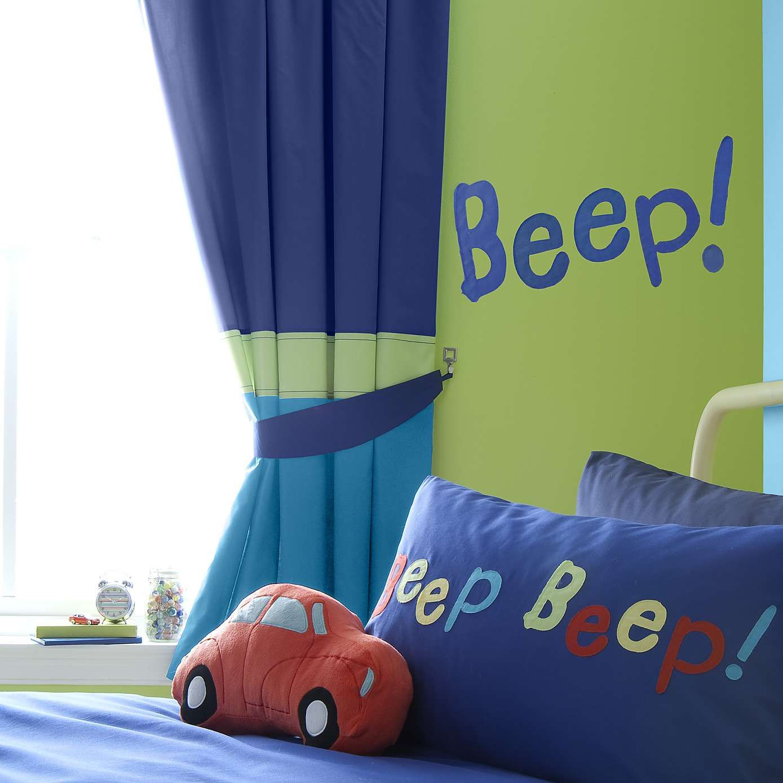 Kids beep blackout pencil pleat curtains dunelm home ideas