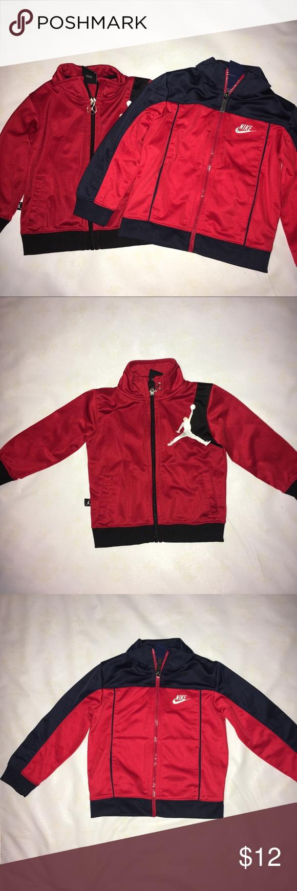 206b51f08bc56b Boy jackets •Red and black Jordan jacket •Red and blue Nike jacket •Worn  multiple times •Good condition •Size Nike 24M •Size Jordan 18M Nike Jackets    Coats