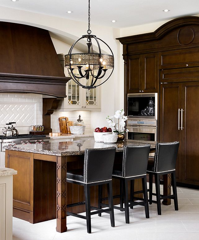 Decorating Above Kitchen Cabinet Design: Kitchen Design Ideas. French Kitchen. Great Dark Stained