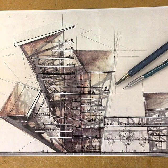 Cool Architecture Drawing Новости | cool sections | pinterest | sketches, architecture and