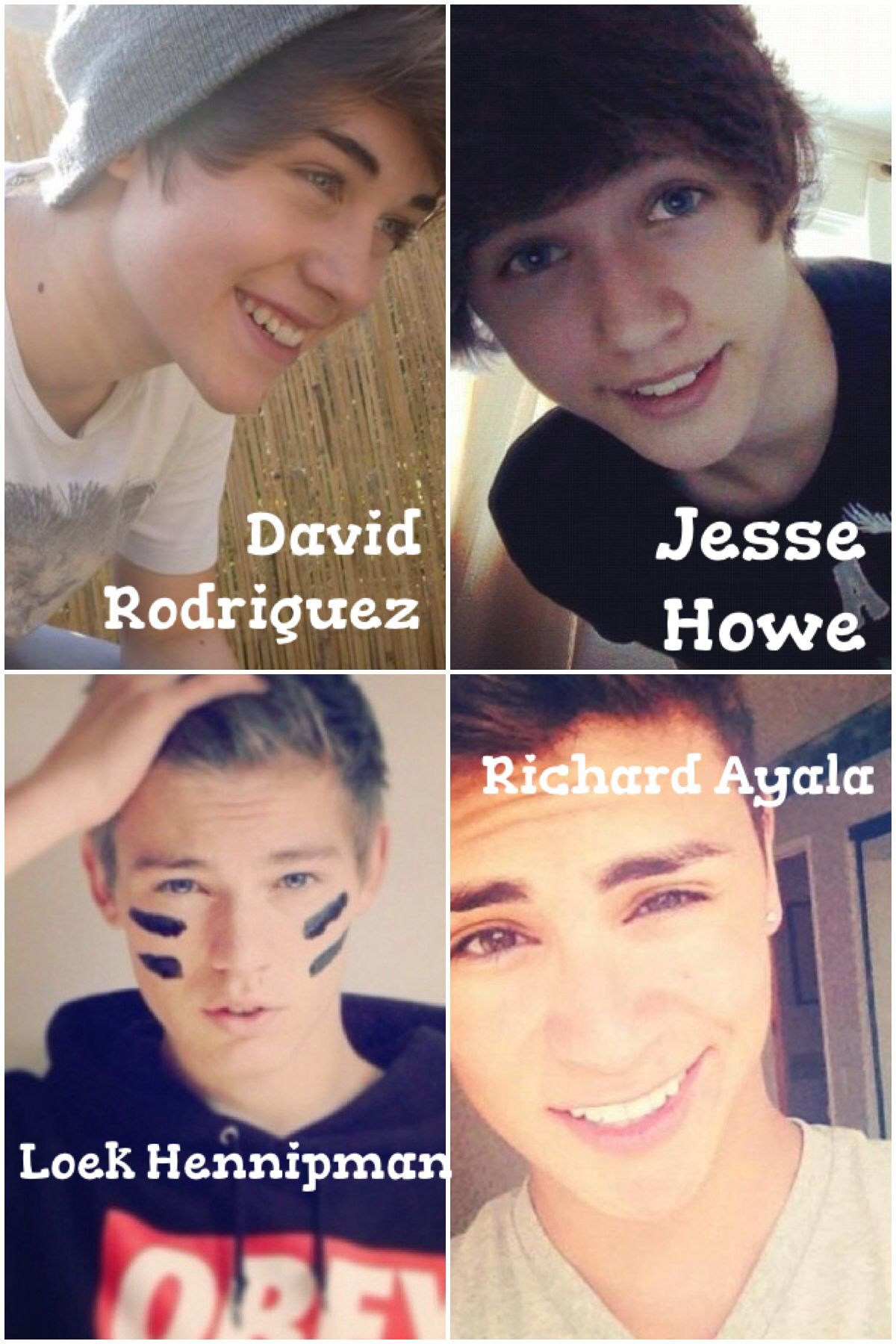 I ONLY FOUND FOUR OTHERS FROM PINTEREST BUT HEY I FOUND THEM!! It's David Rodriguez, Jesse Howe, Richard Agala, and Loek Hennipman!! :D