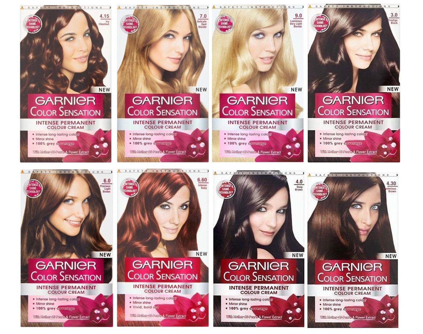 Garnier Color Sensation Intense Permanent Hair Colour Cream Garnier Color Sensation Permanent Hair Color Hair Color Cream