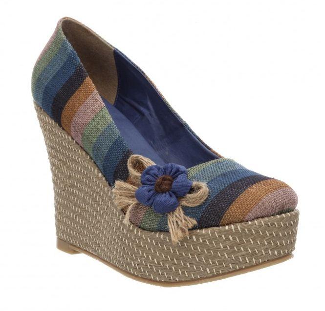 Zapatos Mundo Terra 2014 suecos tela yute multicolor primavera verano. a58affa60c0