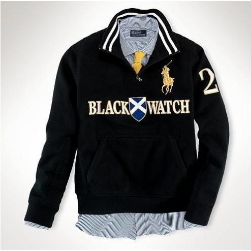 I just like this Ralph Lauren Classic Fit Big Pony Rugby Hoodie Black
