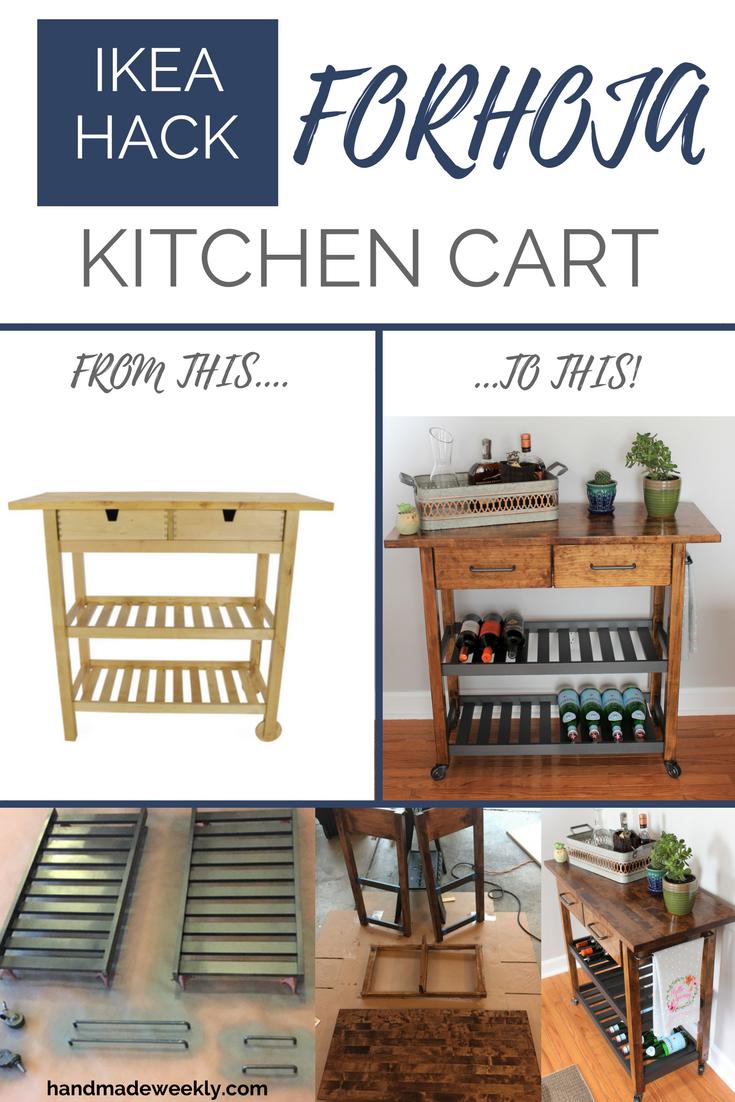 Ikea Forhoja Kitchen Cart Hack With