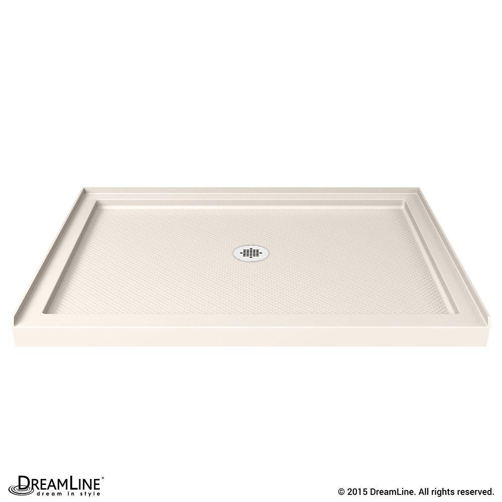 Slimline 34 Inch X 42 Inch Single Threshold Shower Base In Biscuit