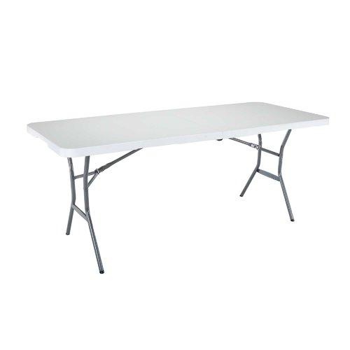 183 5cm Rectangular Folding Table Lifetime Fold In Half Table Half Table White Granite