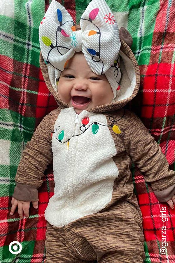 Make baby Christmas photos even cuter with adorable holiday outfits & accessories for your little boy or girl.