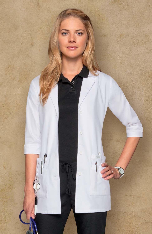 "Dickies 82402 Women's ¾ Sleeve Fashion Size 30"" Lab Coat"
