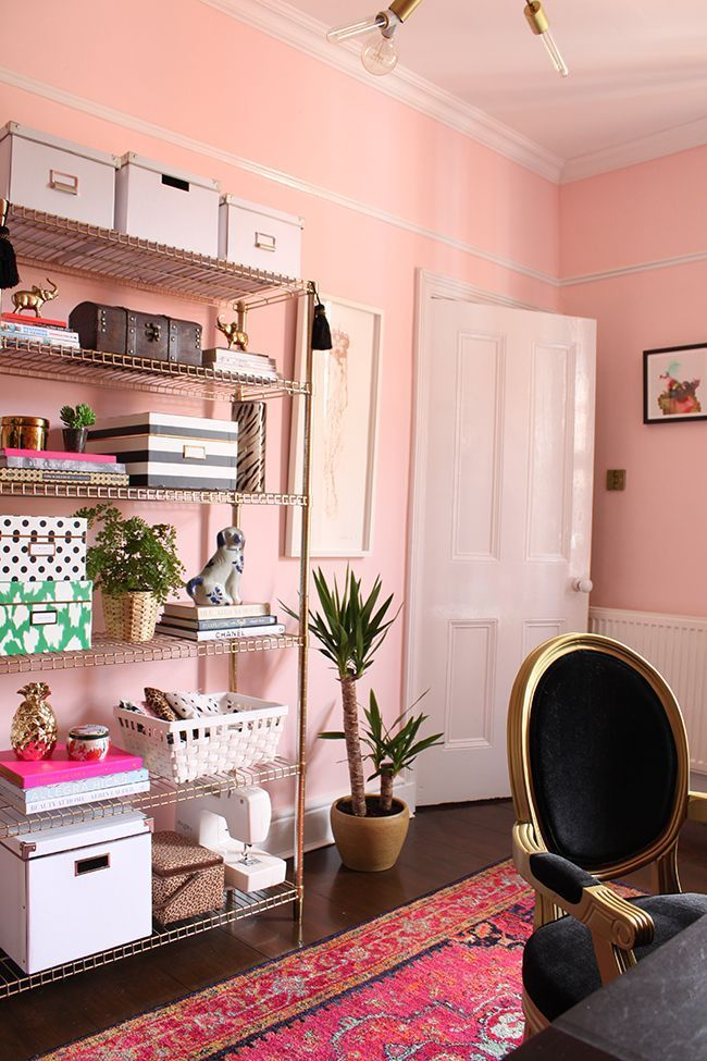 Spring 2015 One Room Challenge - Eclectic Boho Glam Office Reveal ...