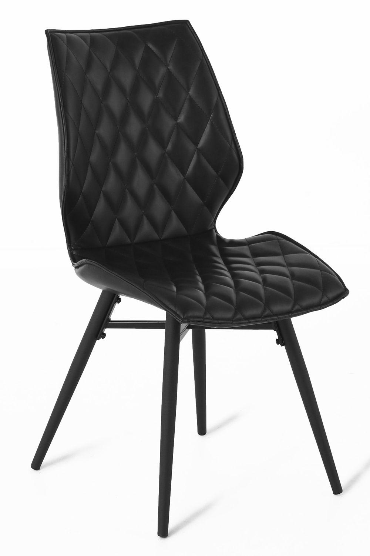 Massiv Direkt Stuhl Stockholm Stuhl Kunstleder Stühle Schwarz