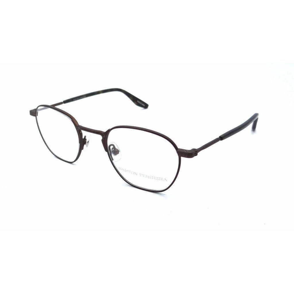 3314b012a3 Barton Perreira RX Eyeglasses Frames Ginsberg 46x21 Matte Java Made in Japan