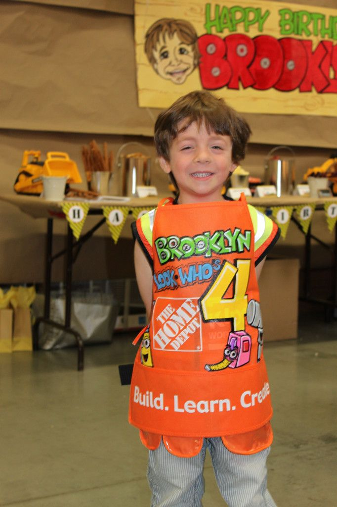 Adorable A Construction Themed Party At The Local Home Depot They Built Bird Houses Did Scavenger Hunt More Kidsparty Partyidea