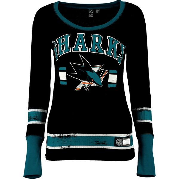 San Jose Sharks G-III 4Her by Carl Banks Women's Power Play III Long Sleeve Thermal T-Shirt - Black - $34.99