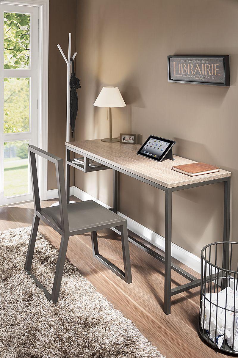 Escritorio para laptops o tablets helvetica dise ado para - Escritorio para espacios pequenos ...