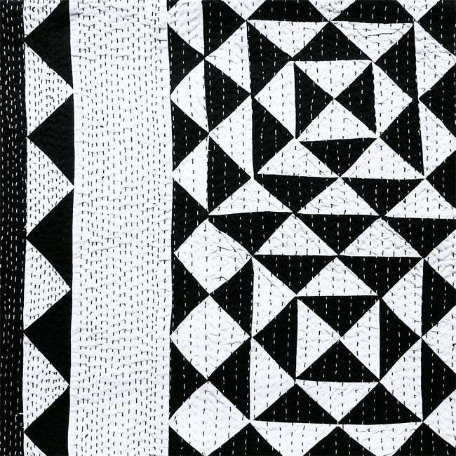 Black and white throw by Sally Campbell