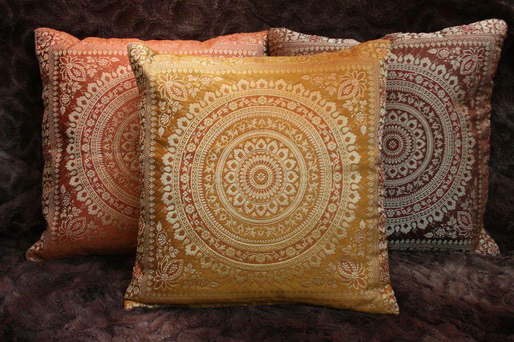 details zu mandala kissenbezug brokat deko kissen indien. Black Bedroom Furniture Sets. Home Design Ideas