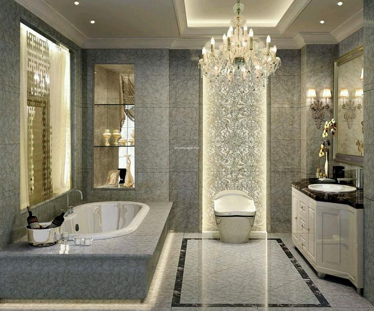 lampadari-bagno-contesto-lussuoso | Lampadari bagno | Pinterest