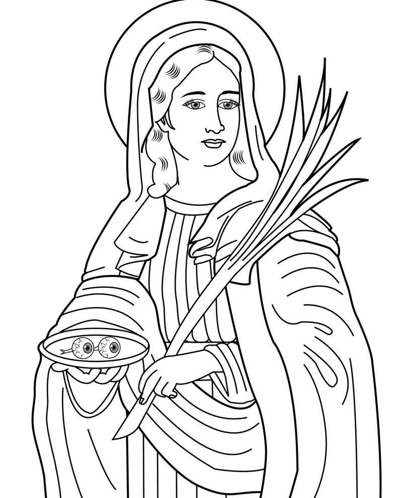 13 dicembre santa lucia storia origini leggenda poesie immagini pattern coloring pages free coloring
