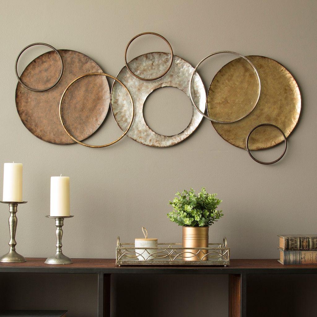Stratton Home Decor Modern Circles Wall Decor In 2020 Plate Wall