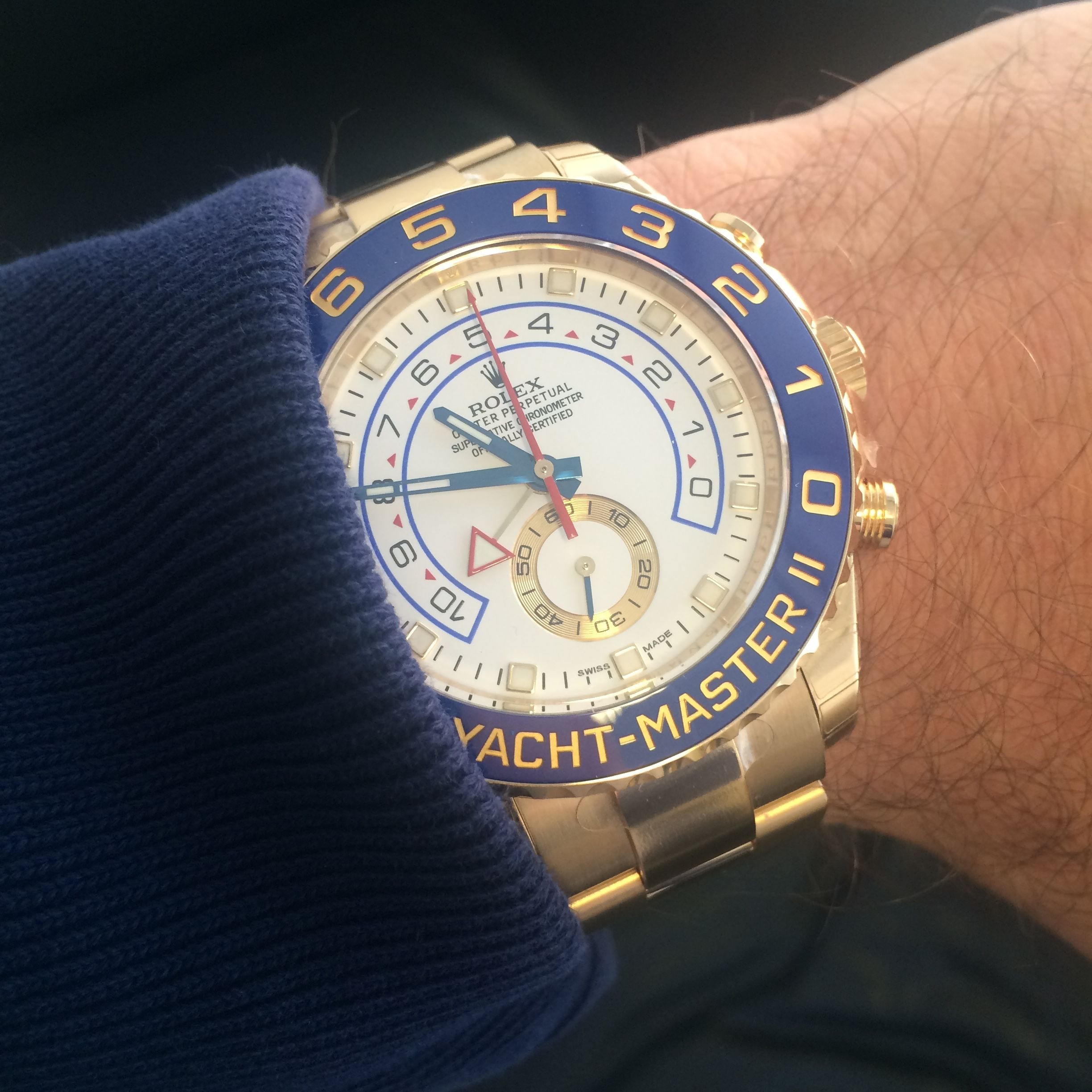 Take to the Sea with The Rolex Yachtmaster II Yellow Gold