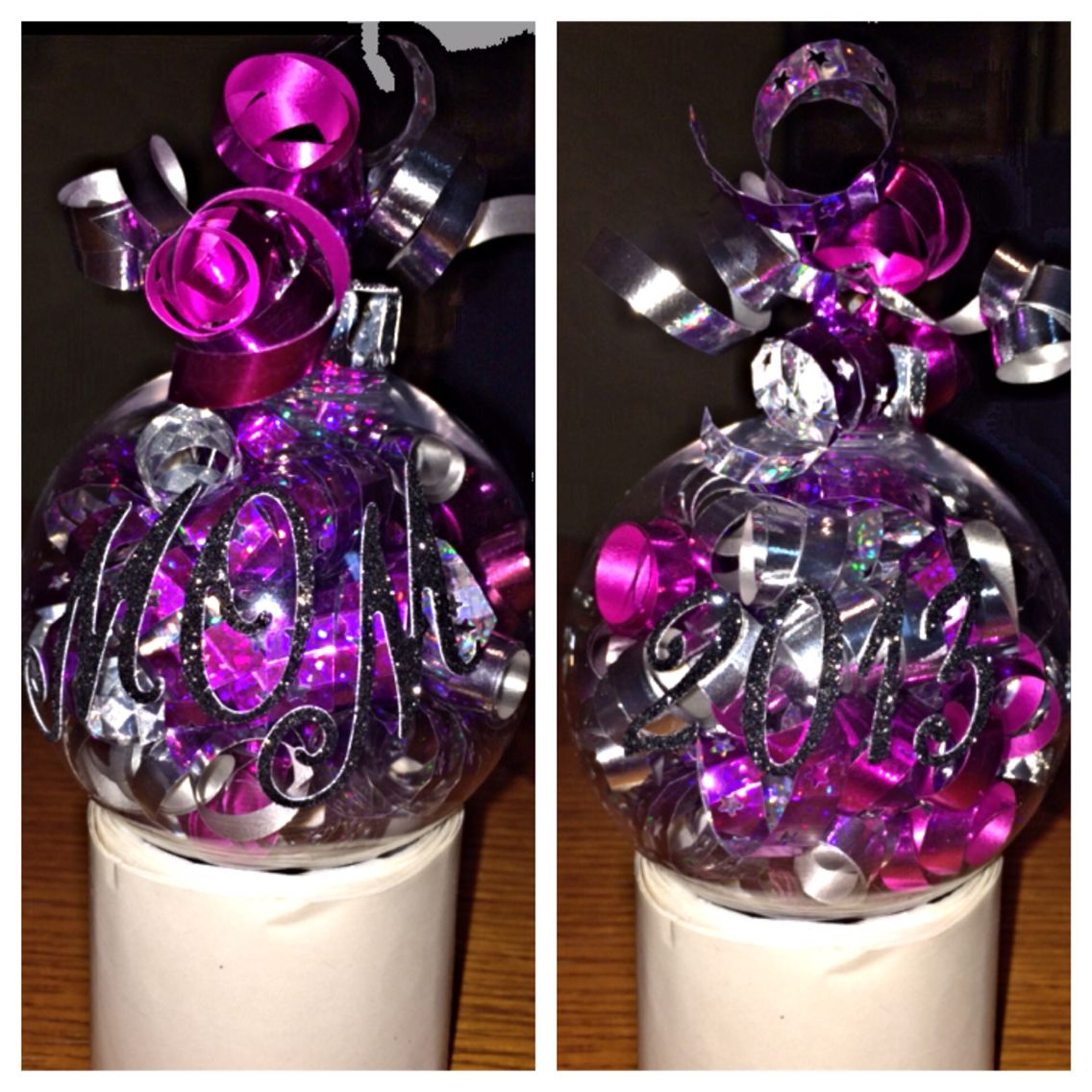 Hobby lobby glass ornaments - Make Your Own Ornaments Get Them At Hobby Lobby And Pick Whatever Color Curling Ribbon You