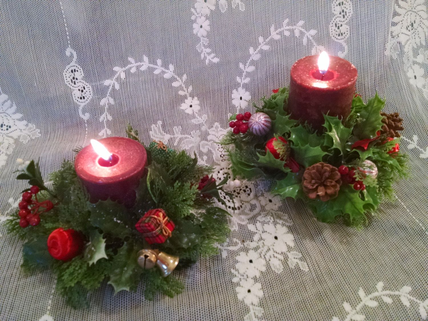 Candle ring, Christmas candle ring, vintage Christmas ...